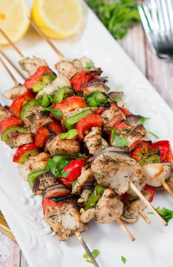 Grilled Mediterranean Chicken Kebabs - You'll be set for a spring full of flavor with these recipes. For more go to http://glamshelf.com