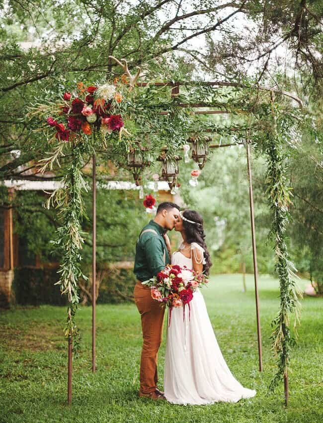 Bohemian Jewel Tones - There is a full world of wedding theme ideas to adapt to your needs and taste. Here are 51 unique wedding theme detail ideas for getting married in style! For more wonderful ideas, check http://glamshelf.com !